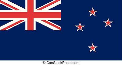 zeeland, nieuw, vlag, gekleurde