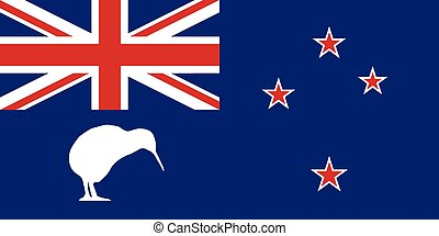 zeeland, nieuw, vlag, kiwi