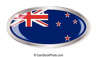 zeeland, nieuw, vlag, knoop, ovaal