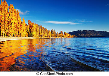 zeeland, nieuw, wanaka, meer