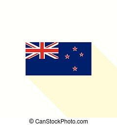 zeeland, plat, officieel, proportie, vlag, vector, ontwerp, nieuw
