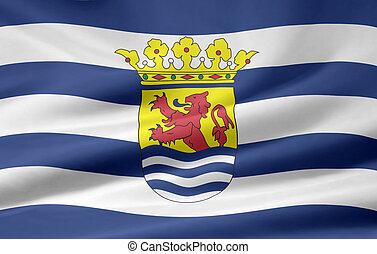 zeeland, vlag, nederland, -