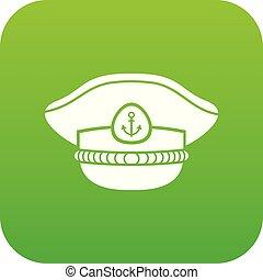 zeeman, pet, pictogram, groene, vector