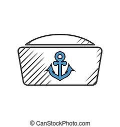 zeeman, witte achtergrond, pictogram