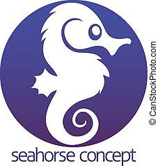 zeepaard, cirkel, concept