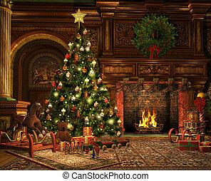 zeer, kerstmis, vrolijk