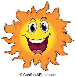 zeer, zon, vrolijke
