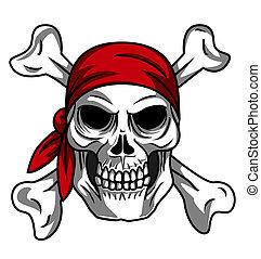zeerover, schedel