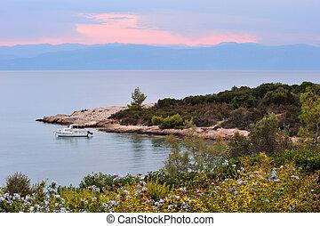 zeezicht, sereen, griekenland