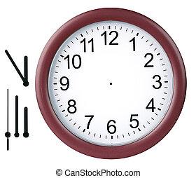 zegar, odizolowany, okrągły