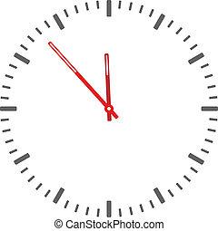 zegar, -, twarz, wektor, odpoczynek, czas, zmiana