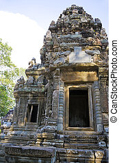 zeggen, tevoda, tempel, cambodja, chau