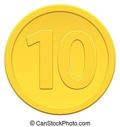 zehn, muenze