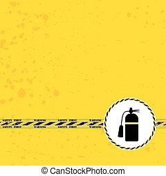 zeichen, abbildung, gelber , design