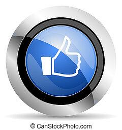 zeichen, auf, daumen, ikone, mögen
