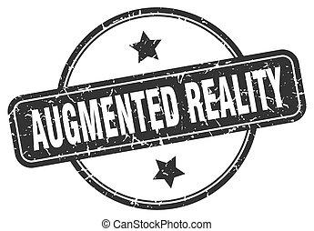 zeichen., augmented, runder , grunge, weinlese, wirklichkeit...