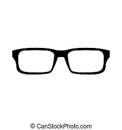 zeichen, brille, ikone