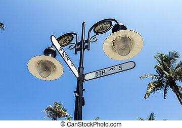 zeichen, florida, straße, neapel, historische