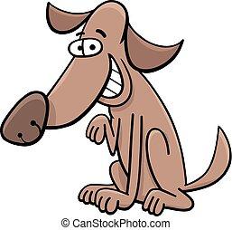 zeichen, hund, karikatur