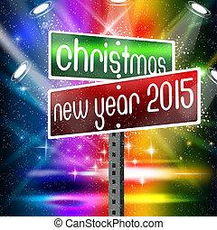 zeichen, jahr, 2015, neu , weihnachten, straße