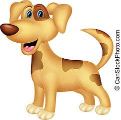 zeichen, karikatur, hund
