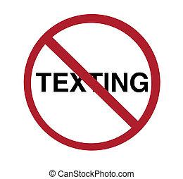 zeichen, -, nein, texting