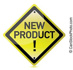 zeichen, neues produkt
