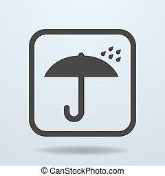 zeichen, schirm, ikone, symbol