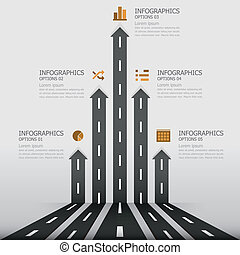 &, zeichen, straße, design, schablone, infographics
