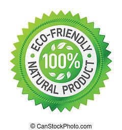 zeichen, von, ein, eco-freundlich, produkt