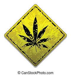 zeichen, von, marihuana