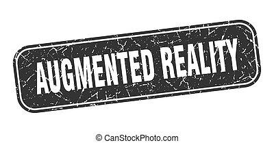 zeichen, wirklichkeit, schwarz, quadrat, augmented, grungy, ...