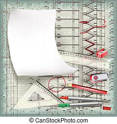 zeichnung, architektonisch