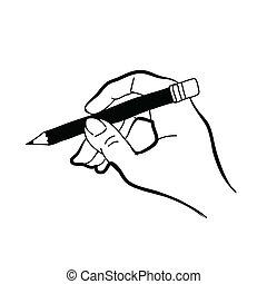 zeichnung, hand