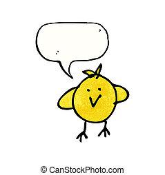 zeichnung kind, von, a, vogel