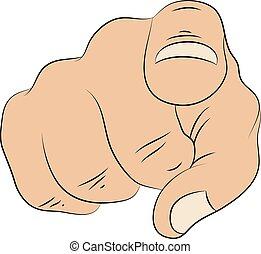 zeigen finger