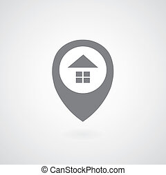 zeiger, daheim, symbol