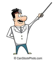 zeiger, karikatur, doktor