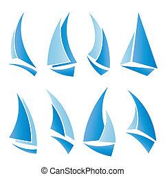 zeilboot, iconen