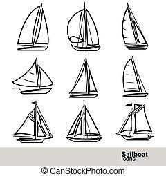 zeilboot, vector