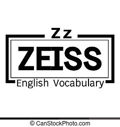 ZEISS english word vocabulary illustration design