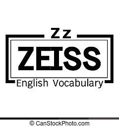 ZEISS english word vocabulary illustration design