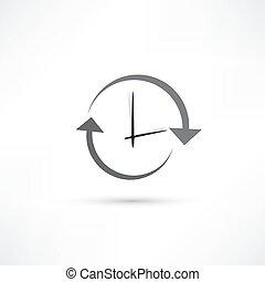 zeit, aktualisierung, ikone