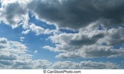 zeit, bewegen, fehler, wolkenhimmel, -, sie