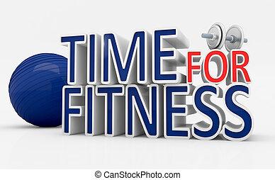 zeit, für, fitness.
