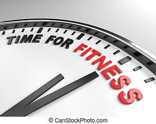 zeit, für, fitness