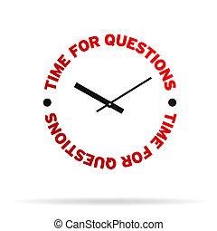 zeit, für, fragen