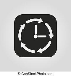 Web wohnung besucher symbol zeichen uhr logo for Wohnung design app