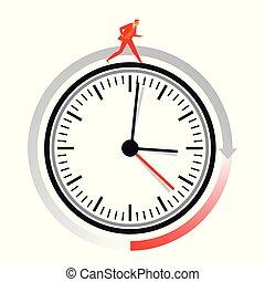 Zeit-Lauf.eps - Time management concept icon symbol