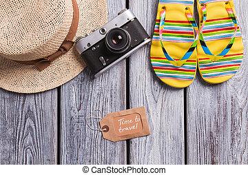 zeit, reisen, sommer, accessories.